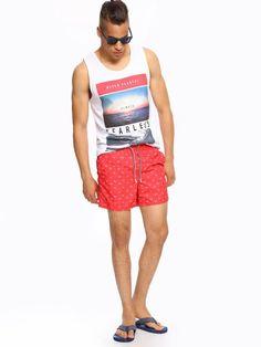 SZORTY MĘSKIE na lato 2016 moda męska Top Secret Trunks, Swimming, Swimwear, Model, Fashion, Drift Wood, Swim, Bathing Suits, Moda