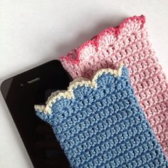 Znalezione obrazy dla zapytania crochet smartphone case