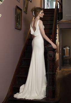 white satin bias cut gown - Google Search