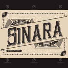 Sinara Font Available at @Creavorite  #Font #Typography #Vintage #Poster #Sale #Labels #Retro #Typeface #Decorative #Classic #SignPainters