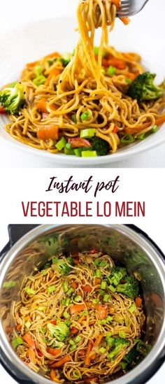 Instant Pot Vegetable Lo Mein is a quick and easy meal packed with healthy vegetables and cooked in a flavorful sauce. Made at home in only 20 minutes, you pot recipes asian Instant Pot Vegetable Lo Mein Lo Mein Noodles, Vegetable Lo Mein, Vegetable Meals, Healthy Breakfast Options, Breakfast Recipes, Instant Pot Dinner Recipes, Instant Pot Chinese Recipes, Healthy Vegetables, Vegan Recipes