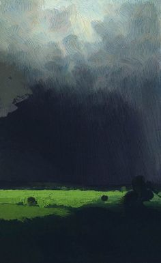 """After a Rain"" by Arkhip Kuindzhi. Cloud cover is so difficult to paint convincingly but Russian artist Arkhip Kuindzhi really hits it just right. Russian Painting, Russian Art, Painting Art, Knife Painting, Painting Abstract, Landscape Art, Landscape Paintings, Russian Landscape, Thunderstorms"