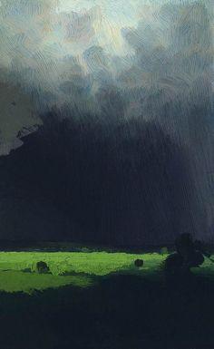 "tierradentro:  ""After a Thunderstorm"", 1879,Arkhip Kuindzhi."