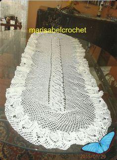 Marisabel crochet: camino de mesa, lo tejì en hilo algodòn y es para...