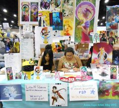 Our Table at AX 2012 by ChibiSofa