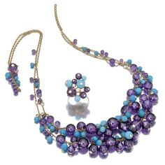 Cartier ~ Turquoise, Amethyst and Diamond Necklace via Sothesby's