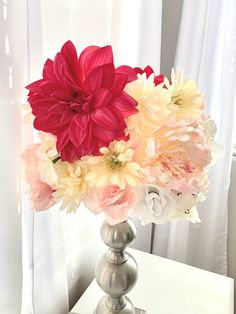 Excited to share this item from my shop: Flowery lamp shade Pom Pom Flowers, Small Lamp Shades, Custom Items, Rosettes, Night Light, Different Colors, Color Schemes, Flora, Handmade