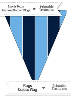 Rays Colors Pennant Banner Flag from PrintableTreats.com