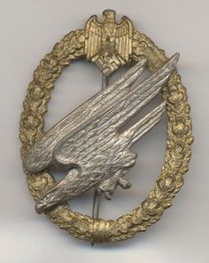 The Army Paratroopers Badge was re-instituted on 1 June 1943 with the formation of the 15th (Fallschirmjager) Company of Brandenburg Regiment 4 (1 April 1943).