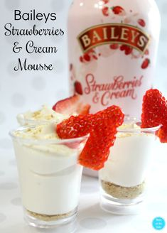 Boozy Dessert Recipe: Baileys Strawberries and Cream Mousse with just four ingredients!