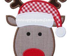 544 Zig Zag Reindeer Machine Embroidery by AppliqueCafeDesigns