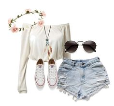 """Springtime Hippie"" by peanutbutter-n-nutella on Polyvore featuring Accessorize, Cara and Converse"