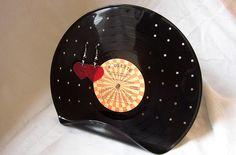 Vinyl Record Earring Organizer