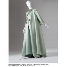 Balenciaga, evening dress and coat, 1962-63, Abraham silk. - Photo by Ken Howie