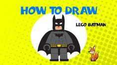 How to draw Lego Batman - STEP BY STEP GUIDE - DRAWING TUTORIAL GUIDE