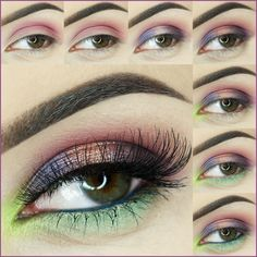 How to do tropical Paradise Photo eye makeup tutoria #Makeup #EyeMakeup #EyeMakeupTutorial