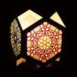 六角形のローズウィンドウで照明作り デザイン*制作 平田朝子