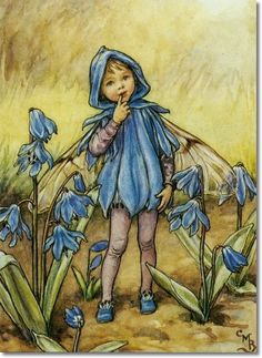The Scilla Fairy for Flower Fairies of the Garden - Illustration by Cicely Mary Barker