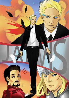He's like James Bond:so cool... Jarvis by LadyDeadPooly.deviantart.com on @DeviantArt