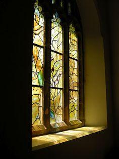 Marc Chagall's window at All Saints' Church, Tudeley, Kent. UK