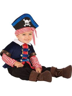 The Pirate Baby Boy Costume is the best 2018 Halloween costume for you to get! Everyone will love this Baby/Toddler costume that you picked up from Wholesale Halloween Costumes! Baby Costumes For Boys, Toddler Costumes, Boy Costumes, Pirate Costumes, 3t Halloween Costumes, Baby Halloween, Pirate Baby, Pirate Kids, Pirate Theme