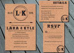 Wine Cork Vinyard WEDDING Invitation Suite with RSVP by SweetLex