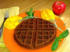 banana almond gluten-free vegan waffle recipe