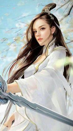 Ideas For Chinese Art Girl Fantasy Fantasy Girl, Chica Fantasy, Fantasy Women, Anime Fantasy, Final Fantasy, Fantasy Princess, Fantasy Romance, Warrior Princess, Fantasy Makeup