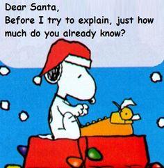 Dear Santa! ;-)