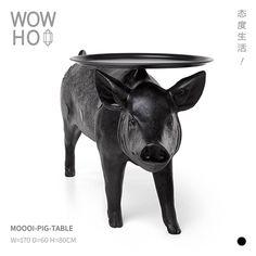 [WOWHOO]MOOOI pig pig table 荷兰猪仔设计师茶机酷黑创意系列-淘宝网