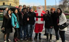 International students from the University of Gloucestershire get to meet Santa! #HEwonderland #UCAS