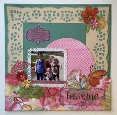 A Walk in the Park - Scrapbooking Layout www.inspiredpapercrafts.com