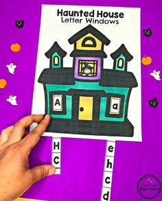 Looking for fun Preschool Halloween Activities? This set of fun Hands-on Centers and Printables are the perfect addition to your Preschool Halloween Theme. Halloween Theme Preschool, Halloween Worksheets, Halloween Math, Preschool Age, Preschool Letters, Halloween Activities, Preschool Crafts, Halloween Themes, Preschool Worksheets