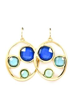 Sky Ova Earrings- these make me think of summer and warm sunshine good times
