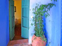 The room I stayed in at The Posada in Casteno de Robledos, Spain.