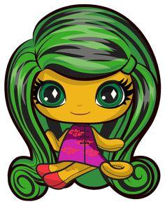 Jinafire Long. Monster High Mini. Original Ghouls