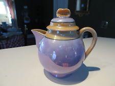 Vintage 1940s Depression Era Luster Ware Porcelain covered Creamer or Tea Pot NR