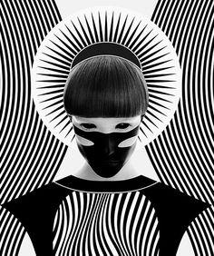 Nikoloz Bionika la belleza del arte digital en blanco y negro