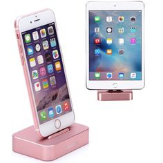 Amazon.com: Apple iPhone/iPad Mini Charge Stand, Lecxci [Stable Aluminum Rose Gold iPhone Charging Desktop] [Assembling & No Charge Cable Included] Dock Cradle…