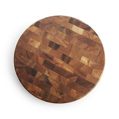 Round End-Grain Cutting Board | Crate and Barrel
