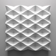 origami tessesations with curved tiles Pattern Texture, 3d Pattern, 3d Texture, Texture Design, Surface Pattern, Surface Design, Pattern Design, White Texture, Tile Design