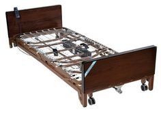 Delta Ultra Light Full Electric Low Bed with Full Rails and Therapeutic Support Mattress