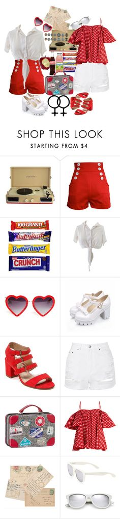 """Young Lovers Runaway Together"" by musicallymasked ❤ liked on Polyvore featuring Crosley, Tara Starlet, Markus Lupfer, French Blu, Topshop, Maileg, Anna October and Yves Saint Laurent"