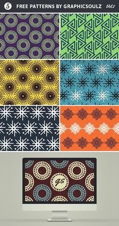 Free Patterns Set - Vol.2   GraphicSoulz - Premium Design Resources Created by Professionals for Real Designers!