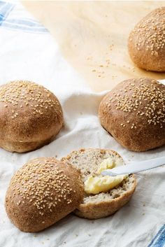 """This low-carb bread is a dream if you long for """"real"""" bread. It has a wonderfully crispy crust and a perfect inside. It also toasts well!"""
