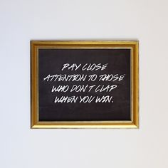 Pay Close Attention // Wolf of Wall Street Quote For sale: www.thegabrys.com