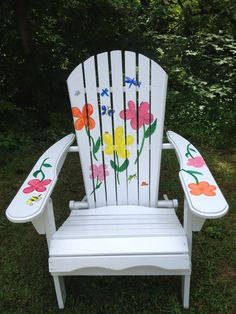 Adirondack Chairs Hand Painted On Etsy, $215.00