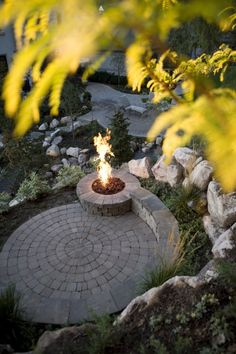 Nice Firepit and Seating Area.  RCP also carries Circular Paver Pattern Packages. Come by any of our 6 Locations or visit us on the Web.  www.rcpblock.com