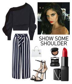 """Friday Night Out"" by kotnourka ❤ liked on Polyvore featuring Burberry, Monsoon, Giuseppe Zanotti, Michael Kors, NARS Cosmetics and Bobbi Brown Cosmetics"