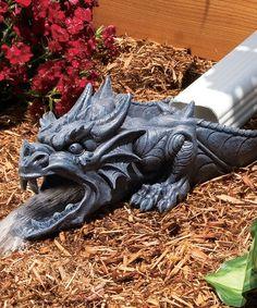 Look at this #zulilyfind! Ranier the Dragon Rainspout Statue #zulilyfinds